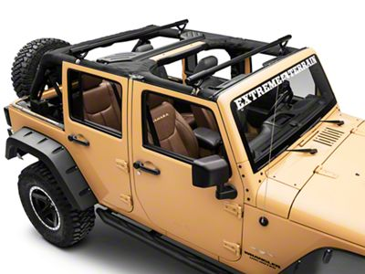 Olympic 4x4 Quick n Easy Rack - Textured Black (07-18 Jeep Wrangler JK 4 Door)