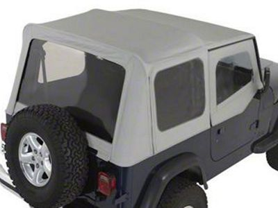Rugged Ridge XHD Soft Top w/ Clear Windows & Door Skins - Charcoal (88-95 Jeep Wrangler YJ w/ Factory Soft Top)