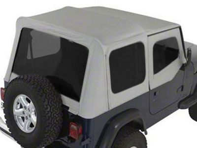 Rugged Ridge XHD Soft Top w/ Tinted Windows & Door Skins - Charcoal (88-95 Jeep Wrangler YJ w/ Factory Soft Top)