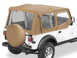 Bestop Replace-A-Top w/ Clear Windows - Spice (88-95 Jeep Wrangler YJ w/ Steel Half Doors)
