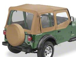 Bestop Sailcloth Replace-A-Top w/ Clear Windows - Spice (88-95 Jeep Wrangler YJ w/ Steel Half Doors)