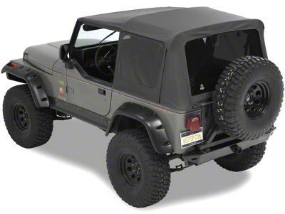Bestop Supertop NX Soft Top - Black Vinyl (88-95 Jeep Wrangler YJ)