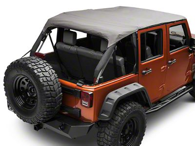 Rugged Ridge Pocket Island Top - Khaki Diamond (10-18 Jeep Wrangler JK 4 Door)