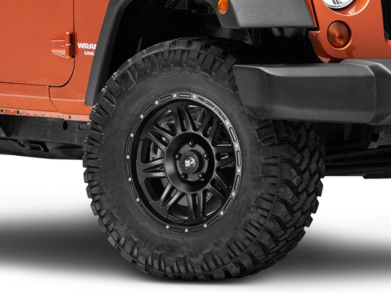 Pro Comp Alloy Series 7005 Flat Black Wheel - 17x9 (07-18 Jeep Wrangler JK; 2018 Jeep Wrangler JL)