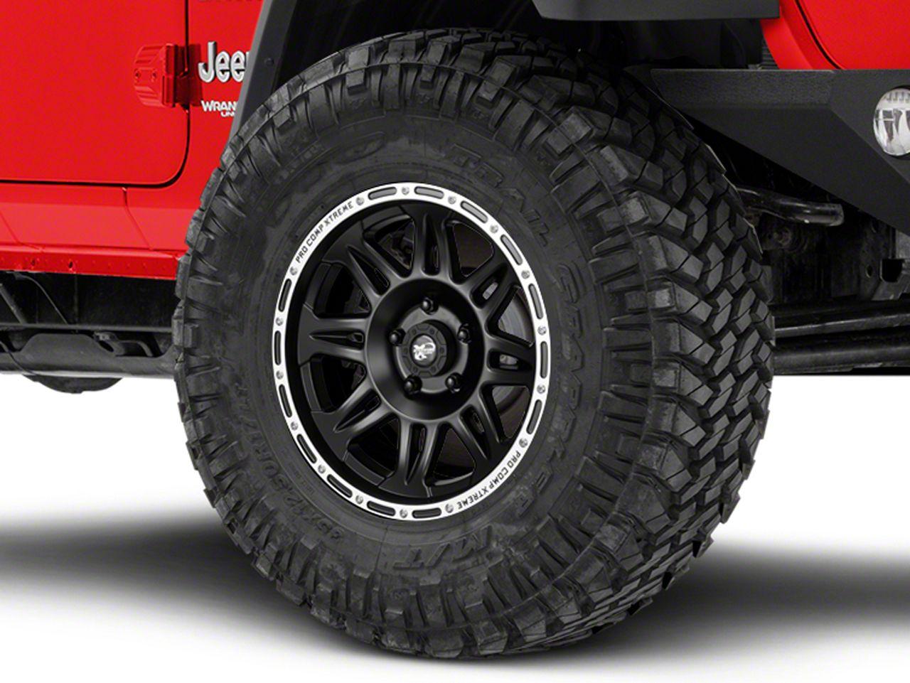 Pro Comp Alloy Series 7105 Flat Black Wheel - 17x9 (18-19 Jeep Wrangler JL)