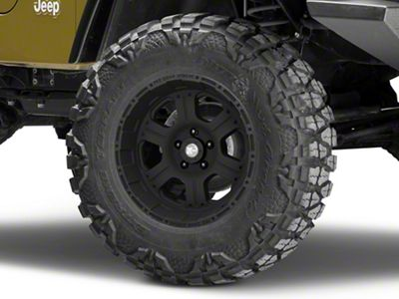 Pro Comp Series 7089 Flat Black Wheel - 17x9 (87-06 Jeep Wrangler YJ & TJ)
