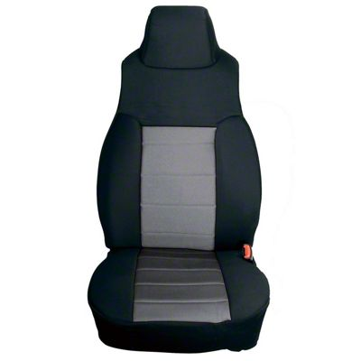 Rugged Ridge Neoprene Front Seat Covers - Gray (91-95 Jeep Wrangler YJ)