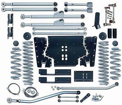 Rubicon Express 4.5 in. Extreme-Duty Long Arm Lift Kit w/o Shocks (03-06 Jeep Wrangler TJ)