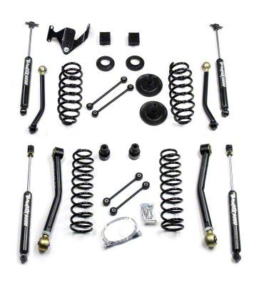 Teraflex 3 in. Lift Kit w/ Front Lower & Extra Short Rear Upper Flex Arms w/ Shocks (07-18 Jeep Wrangler JK 2 Door)