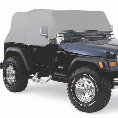 Smittybilt Gray Water Resistant Cab Cover - No Door Flaps (92-06 Jeep Wrangler YJ & TJ)