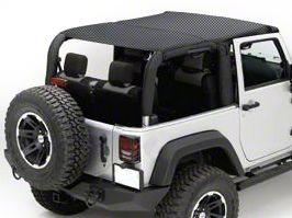 Rugged Ridge Mesh Summer Island Topper - Black (10-18 Jeep Wrangler JK 4 Door)