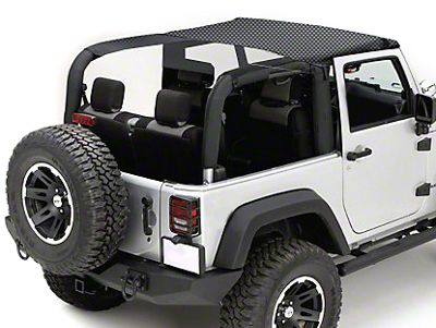 Rugged Ridge Mesh Summer Brief Top - Black (10-18 Jeep Wrangler JK 2 Door)