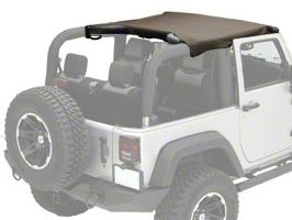 Rugged Ridge Pocket Summer Brief Top - Khaki Diamond (10-18 Jeep Wrangler JK 2 Door)