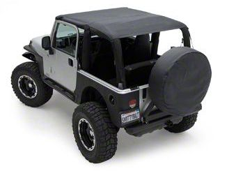Smittybilt Extended Brief Top - Black Diamond (04-06 Jeep Wrangler TJ Unlimited)