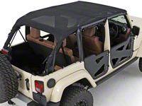 Smittybilt Mesh Extended Top (10-18 Jeep Wrangler JK 2 Door)