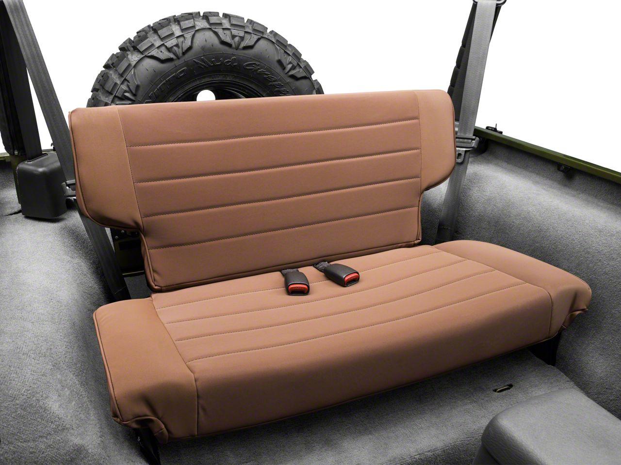 Rugged Ridge Fold & Tumble Rear Seat - Spice Denim (97-02 Jeep Wrangler TJ)