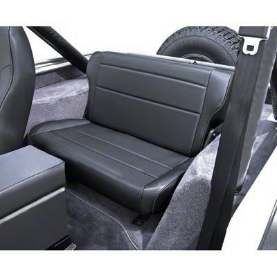 Rugged Ridge Fold & Tumble Rear Seat - Gray (87-95 Jeep Wrangler YJ)