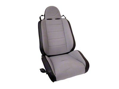 Rugged Ridge RRC Reclining Racing Seat - Gray/Black (87-02 Jeep Wrangler YJ & TJ)