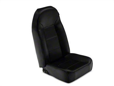 Rugged Ridge Standard Front Bucket Seat - Black Vinyl (87-02 Jeep Wrangler YJ & TJ)