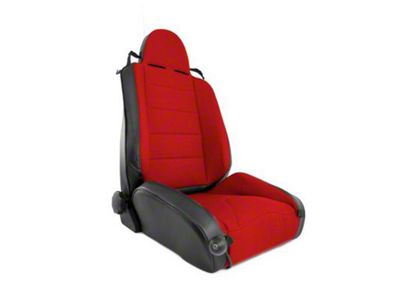 Rugged Ridge XHD Off Road Reclining Front Seat - Black/Red (97-06 Jeep Wrangler TJ)