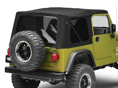 Bestop Supertop NX Soft Top w/ Tinted Windows - Matte Black Twill (97-06 Jeep Wrangler TJ, Excluding Unlimited)