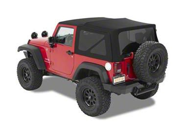 Bestop Replace-A-Top w/ Tinted Windows - Matte Black Twill (07-09 Jeep Wrangler JK 4 Door)