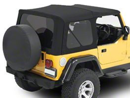 Bestop Replace-A-Top w/ Tinted Windows - Matte Black Twill (97-06 Jeep Wrangler TJ, Excluding Unlimited)