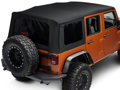 Bestop Replace-A-Top w/ Tinted Windows - Matte Black Twill (10-18 Jeep Wrangler JK 4 Door)