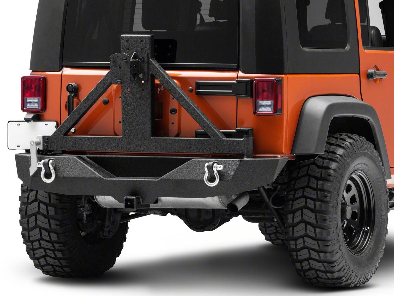 Barricade Trail Force HD Rear Bumper w/ Tire Carrier (07-18 Jeep Wrangler JK)