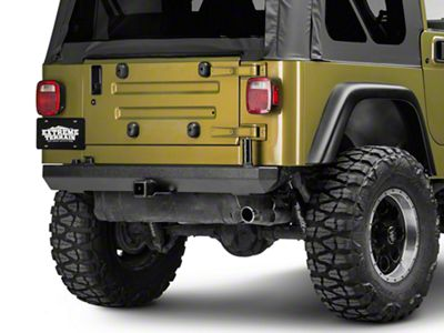 Rugged Ridge Rock Crawler Rear Bumper w/ Post for Carrier (87-06 Jeep Wrangler YJ & TJ)