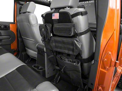 Rugged Ridge Front Cargo Seat Cover - Black (87-18 Jeep Wrangler YJ, TJ, JK & JL)