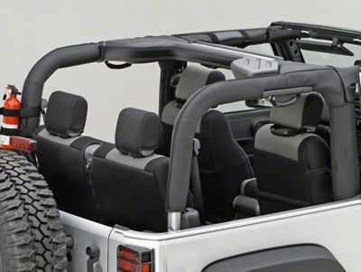 Rugged Ridge Roll Bar Cover - Black Vinyl (07-18 Jeep Wrangler JK 2 Door)