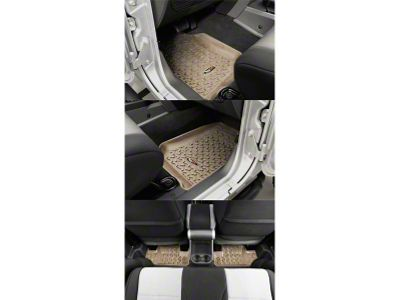 Rugged Ridge All Terrain Front & Rear Floor Mats - Tan (07-13 Jeep Wrangler JK 2 Door)