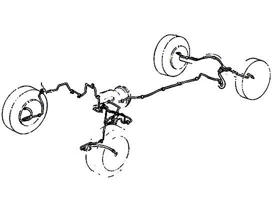 Omix-ADA Brake Line Set (97-06 Jeep Wrangler TJ)