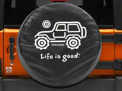 Life is Good Native Off-Road Spare Tire Cover (87-19 Jeep Wrangler YJ, TJ, JK & JL)