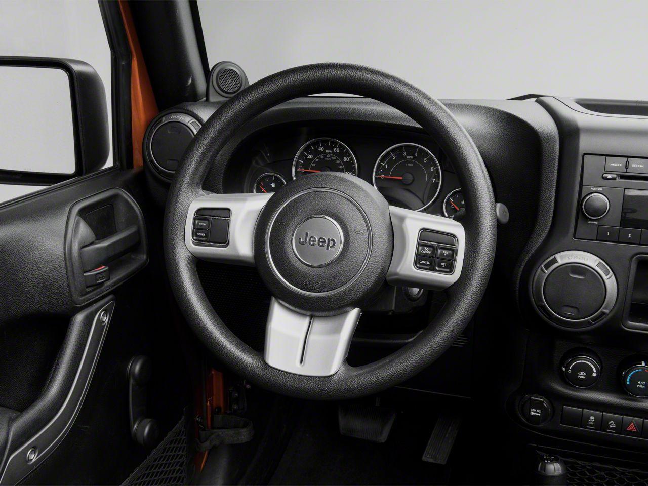 Rugged Ridge Steering Wheel Trim - Brushed Silver (11-18 Jeep Wrangler JK)