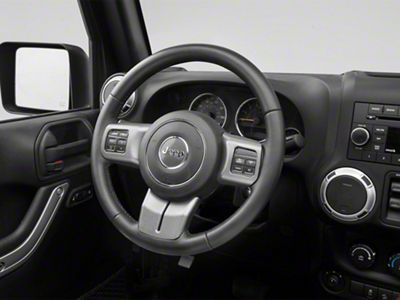 Rugged Ridge Steering Wheel Trim - Charcoal (11-18 Jeep Wrangler JK)