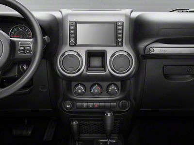 Rugged Ridge Center Radio Console Accent Trim - Charcoal (11-18 Jeep Wrangler JK)