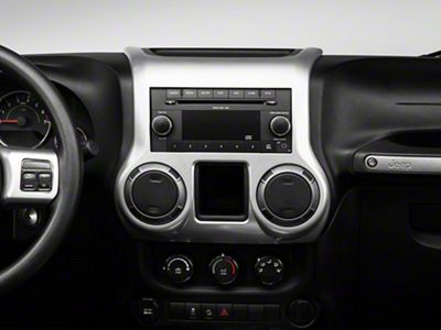 Rugged Ridge Interior Trim Accent Kit - Brushed Silver (11-18 Jeep Wrangler JK 2 Door w/ Automatic Transmission)