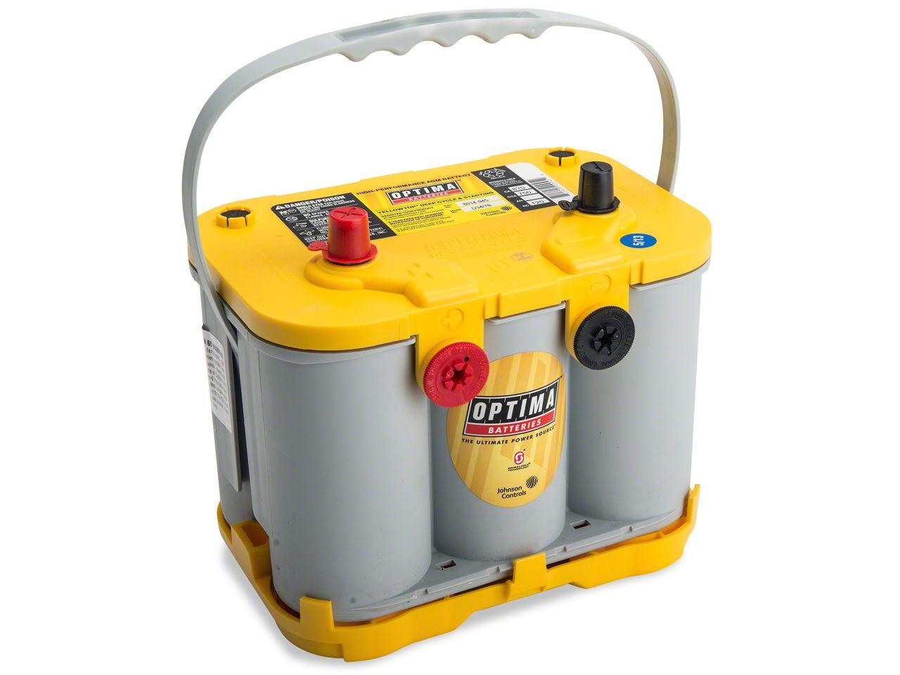 Optima Yellow Top Battery (87-11 Jeep Wrangler YJ, TJ & JK)