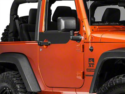 Door Accents - Matte Black (07-18 Jeep Wrangler JK 2 Door)