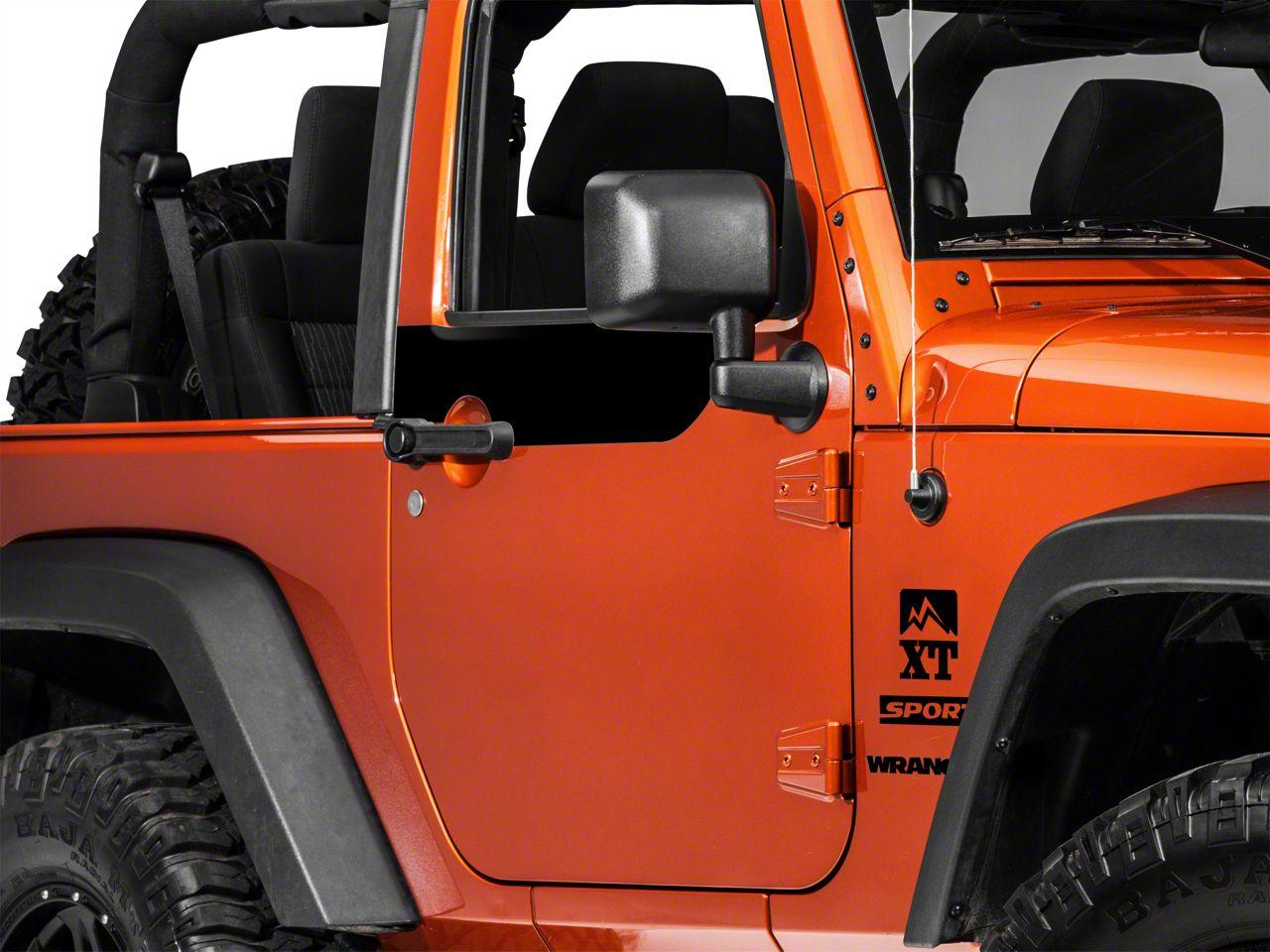 Door Accents - Black (07-18 Jeep Wrangler JK 2 Door)
