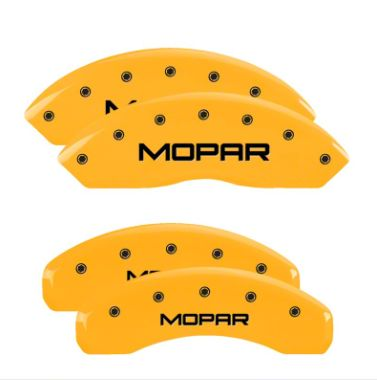 MGP Yellow Caliper Covers w/ MOPAR Logo - Front & Rear (18-19 Jeep Wrangler JL)