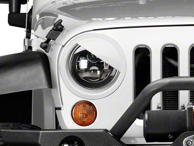 RedRock 4x4 Angry Eyes Headlight Conversion - Pre-Painted (07-18 Jeep Wrangler JK)
