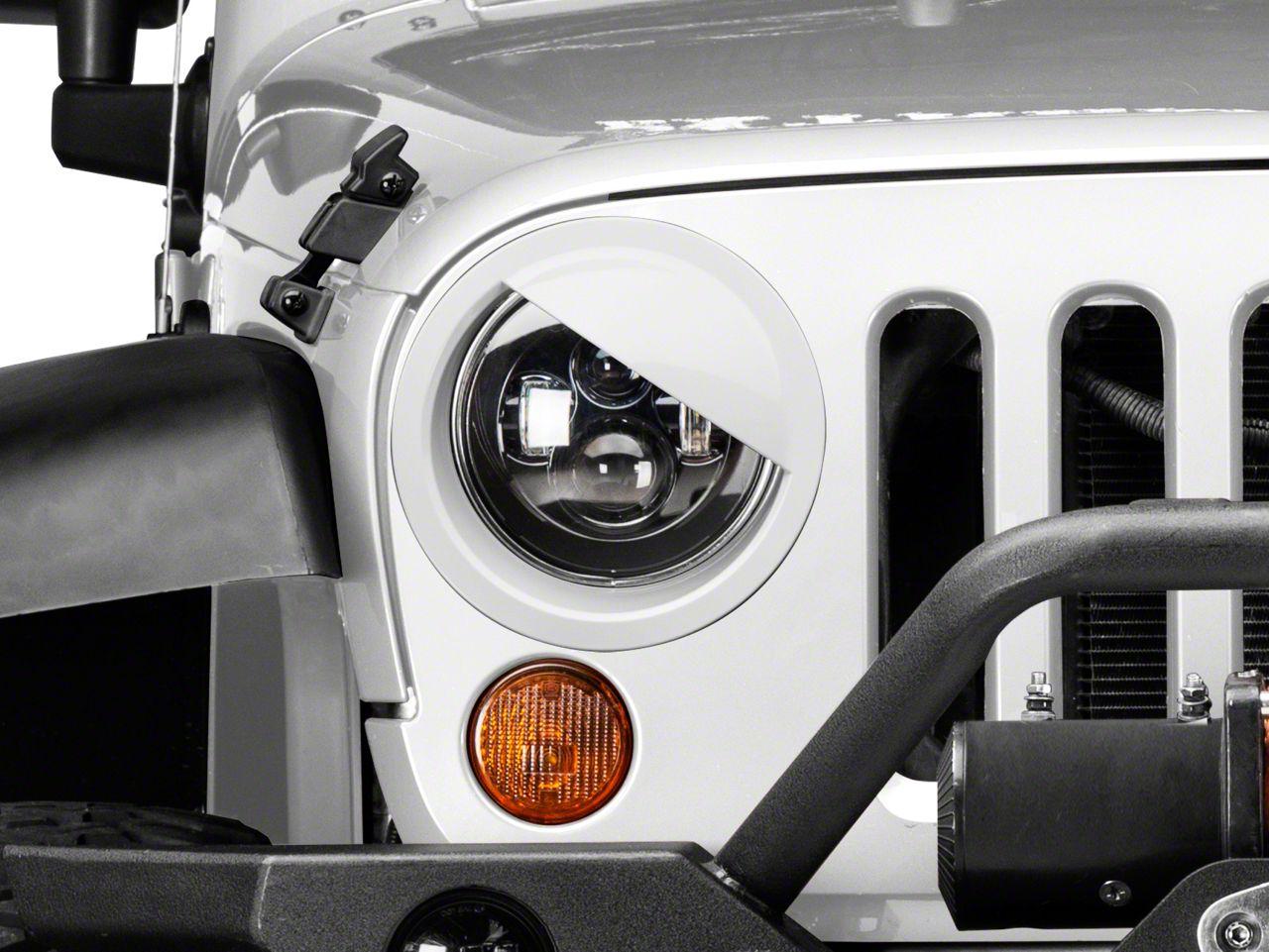 RedRock 4x4 Angry Eyes Headlight Conversion - Pre-Painted (07-18 Jeep Wrangler JK)
