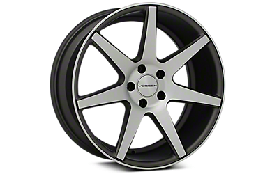 Machined Matte Graphite Vossen CV7 Wheels 2005-2009