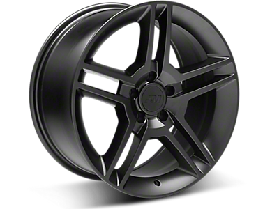 Matte Black 2010 GT500 Style Wheels<br />('10-'14 Mustang)