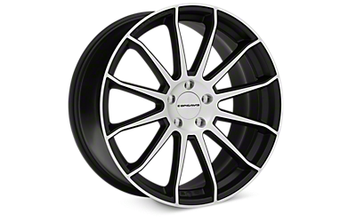 Matte Black Machined Concavo CW-12 Wheels 2005-2009