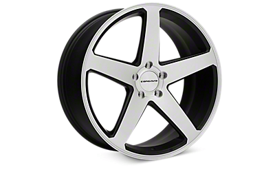 Matte Black Machined Concavo CW-5 Wheels 2005-2009