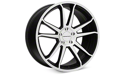 Matte Black Machined Concavo CW-S5 Wheels 2005-2009